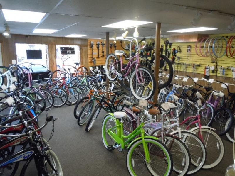 Prom Bike Shop main floor bikes